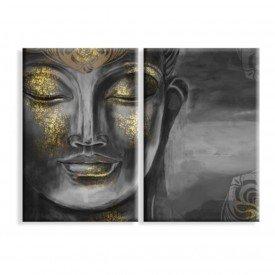 Kit 2 Telas Canvas Buda Hindu