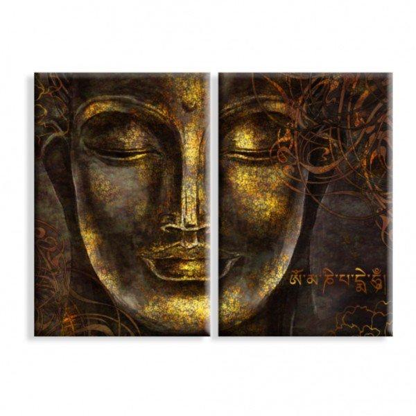 Kit 2 Telas Canvas Buda Meditação