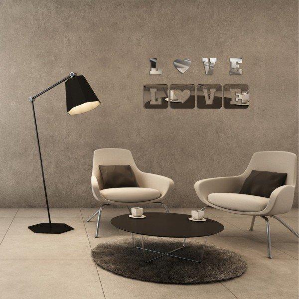 Acrílico Espelhado Two for Love