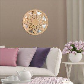 Acrílico Espelhado em Madeira Mandala Lotus