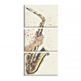 Kit 3 Telas Canvas Saxofone