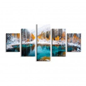Kit 5 Telas Canvas Winter Forest