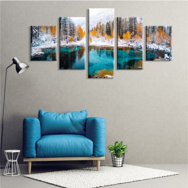 Kit 5 Telas Canvas Winter Forest
