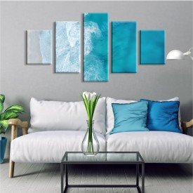 Kit 5 Telas Canvas Blue Ocean