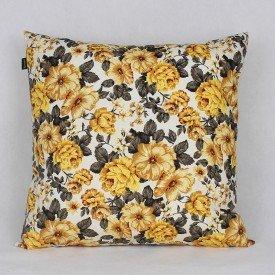 Almofada Belize Floral Amarela