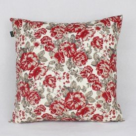 Almofada Belize Floral Vermelha