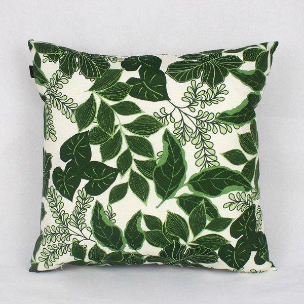 Almofada Belize Folhas Verde Escuro