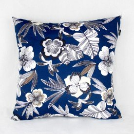 Almofada Belize Floral Azul Marinho