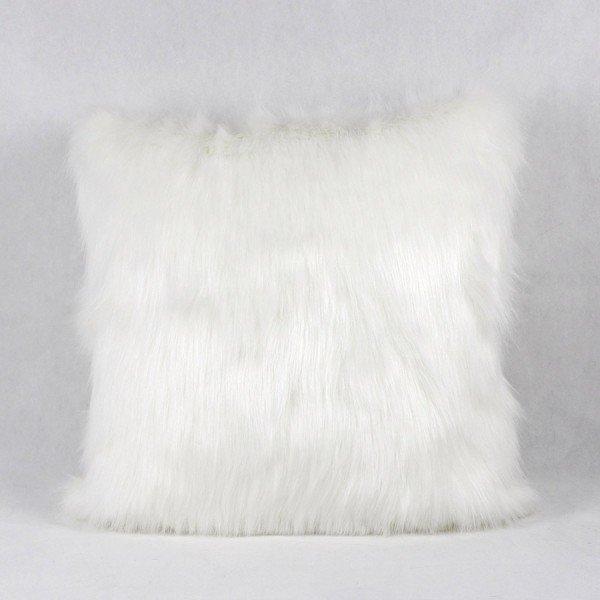 f45b01ff50bb5d Capa Almofada Decorativa Premium Vison Pelo Branco