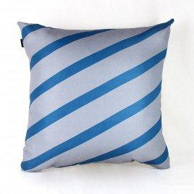 Almofada Georgia Cinza Listra Azul
