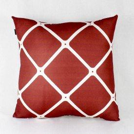 Almofada Georgia Vermelha Grade Branca
