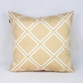 Almofada Esmeralda Dourada Triangular Branco