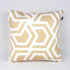 Almofada Esmeralda Labirinto Dourada