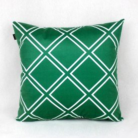 Almofada Esmeralda Verde Triangular Branco