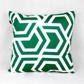 Almofada Esmeralda Labirinto Verde