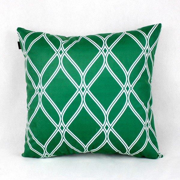 Almofada Esmeralda Verde Vitral Branco