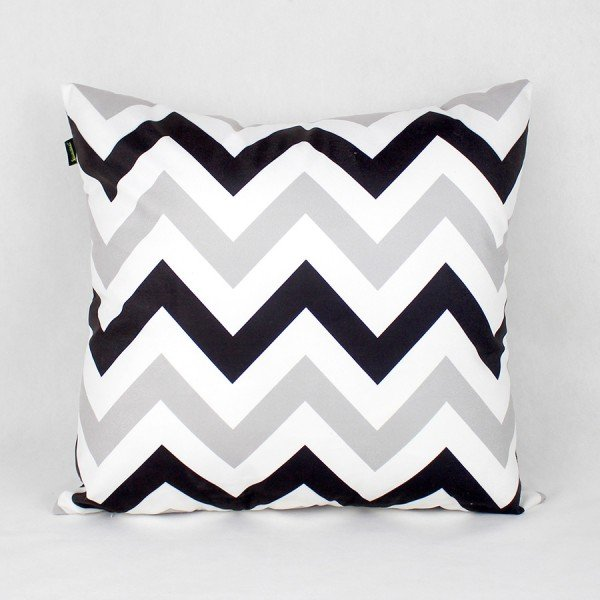 Almofada Esmeralda Zig Zag Black and White