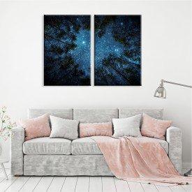 Kit 2 Telas Canvas Noite Estrelar