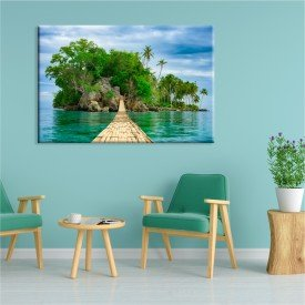 Tela Canvas Ilha Tropical