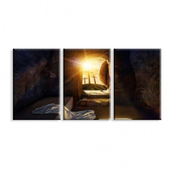 Kit 3 Telas Canvas Religião O Retorno de Cristo