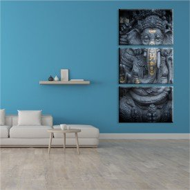 Kit 3 Telas Canvas Dark Ganesha
