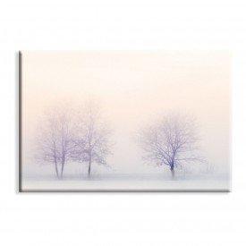 Tela Canvas Bosque Inverno Neblina