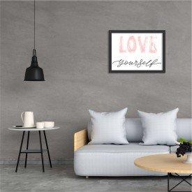 Quadro Decorativo LOVE Yourself Preto