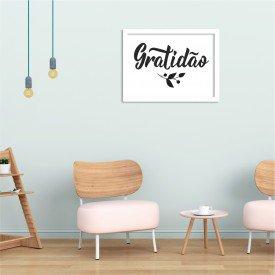 Quadro Decorativo Gratidão Branco