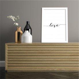 Quadro Decorativo Love Branco
