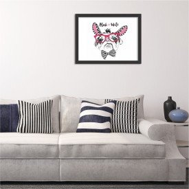 Quadro Decorativo Black or White Pug Preto