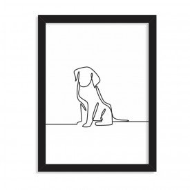 Quadro Decorativo Wall Art Dog Preto