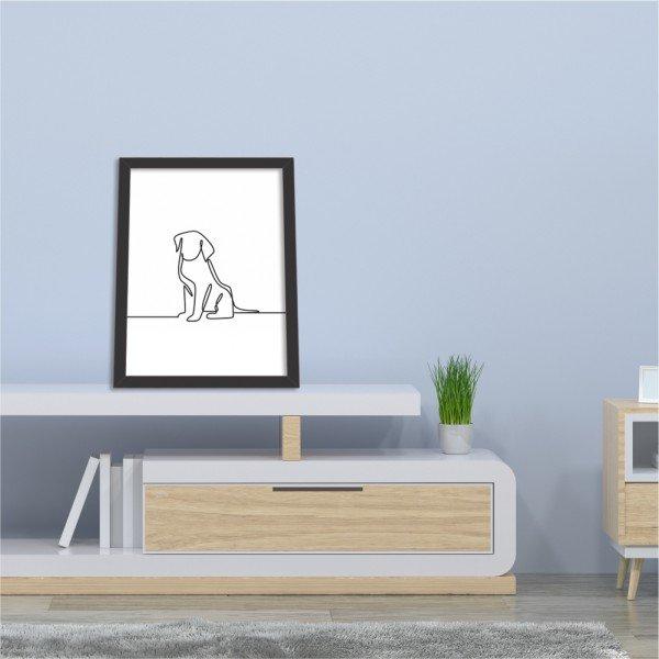 Quadro Decorativo Wall Art Dog Preto