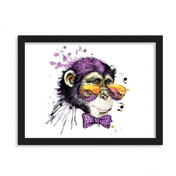 Quadro Decorativo Tropical Monkey