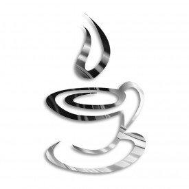 Acrílico Espelhado Xícara de Café