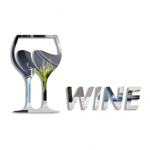 Acrílico Espelhado Wine Degustação