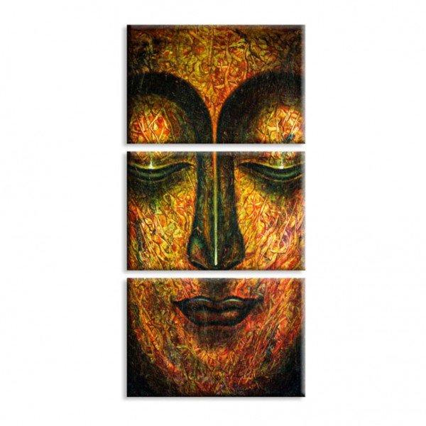Kit 3 Telas Canvas Místico Dourado