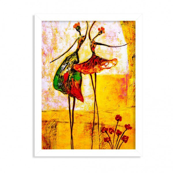 Quadro Decorativo Ballet Branco