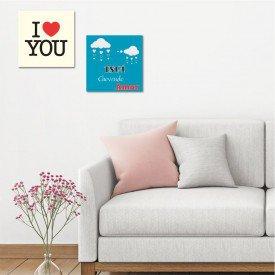 Kit 2 Placas Decorativas Está Chovendo Amor