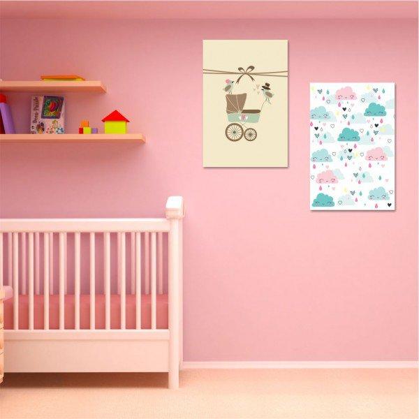 Kit 2 Placas Decorativas Baby Carriage