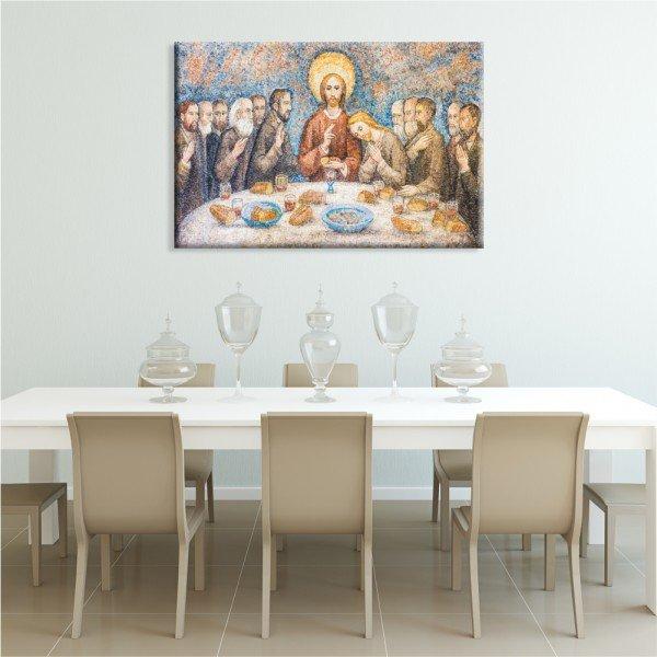 Tela Canvas Religião Santa Ceia Abstrato