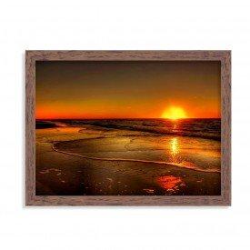 Quadro Decorativo Nascer do Sol Praia Madeira