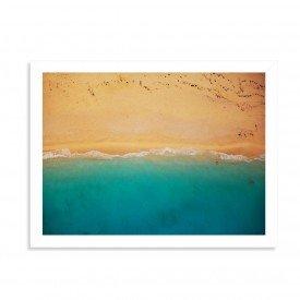 Quadro Decorativo Praia e Areia Branco
