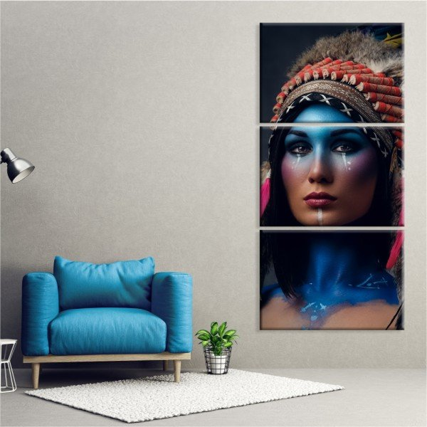 Kit 3 Telas Canvas Cultura Beauty Índia