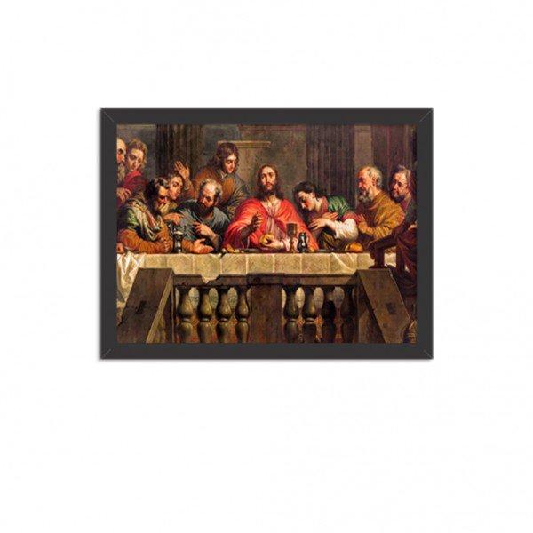 Quadro Decorativo Religião A Ceia de Cristo Preto