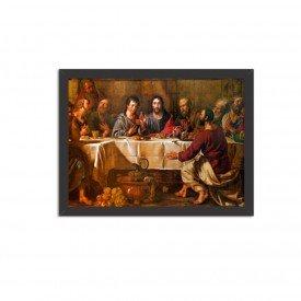 Quadro Decorativo Religião A Última Ceia Preto