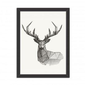 Quadro Decorativo Linedrawing Deer Preto