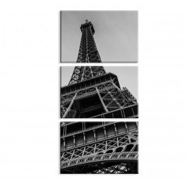 Kit 3 Telas Canvas Paris Black and White