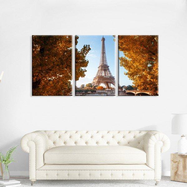 Kit 3 Telas Canvas Paris Primavera