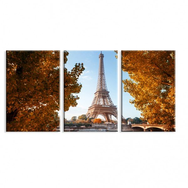 Kit 3 Telas Canvas Paris Primavera