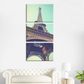 Kit 3 Telas Canvas Paris Tumblr
